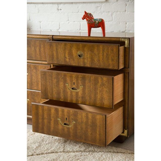 Vintage Campaign Nine Drawer Dresser by Drexel For Sale - Image 12 of 13