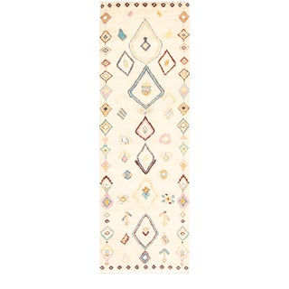 "Moroccan Style Hand-Knotted Runner-3'10"" X 12'1"" For Sale"