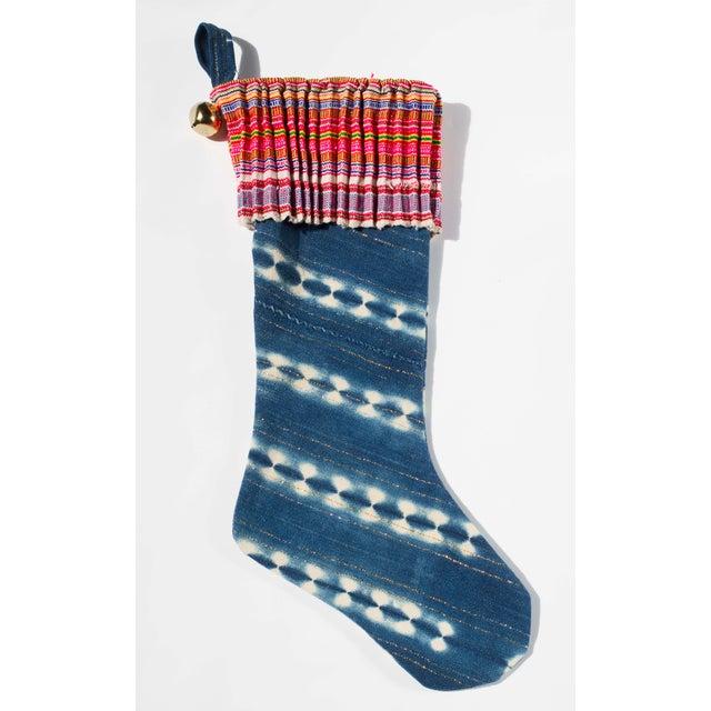 Vintage Indigo Christmas Stocking - Image 6 of 6