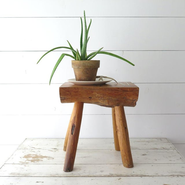 Country Split Log Side Table For Sale - Image 3 of 9