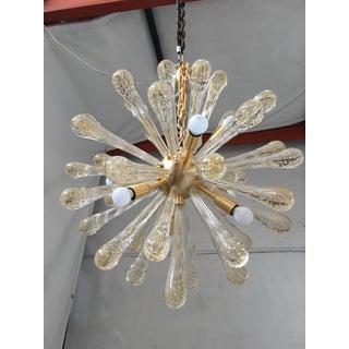 Chandelier Murano Glass Sputnik Metal Frame Gold Brushed Preview