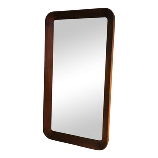 Vintage Pedersen and Hansen, Denmark Mid Century Modern Teak Mirror For Sale