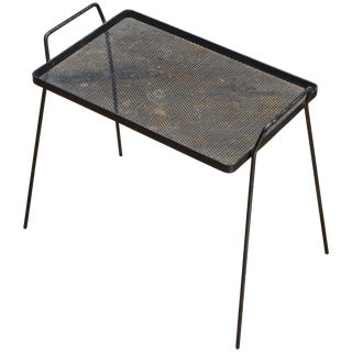Early 1950s Richard Galef for Ravenware Metal Side Table Serving Tray For Sale