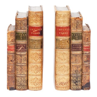 18th Century American Classical Antique Book Bookends - a Pair