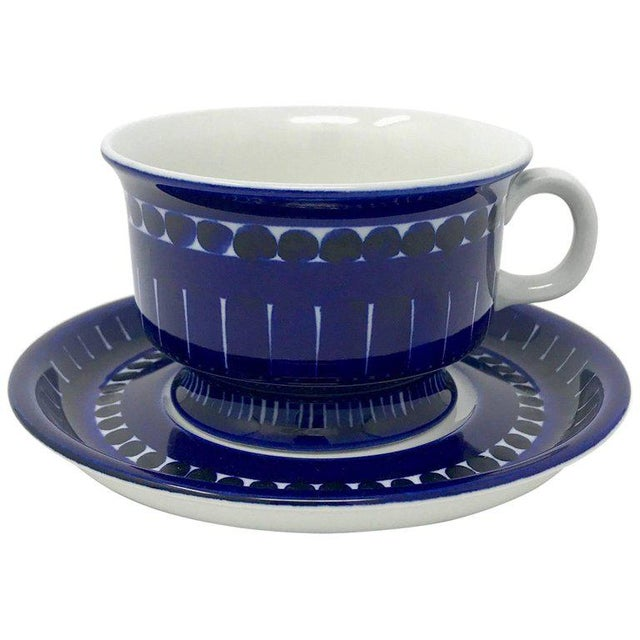 1960s Scandinavian Modern Ulla Procope for Arabia of Finland Valencia Cup and Saucer - 2 Pieces For Sale - Image 13 of 13