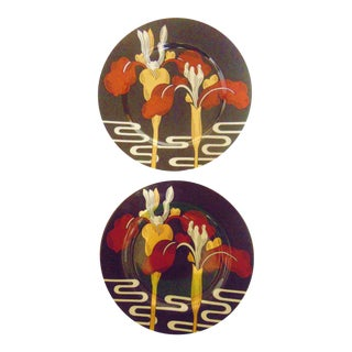 Fitz and Floyd Iris D'Orient Plates - a Pair