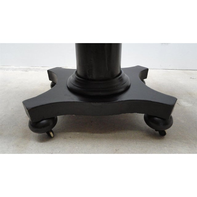 Antique Ebonized Empire Game Table and Console For Sale - Image 4 of 11