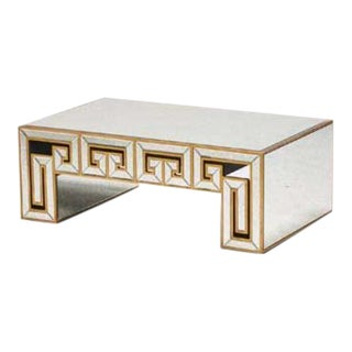 Hollywood Regency Style Mirrored Coffee Table