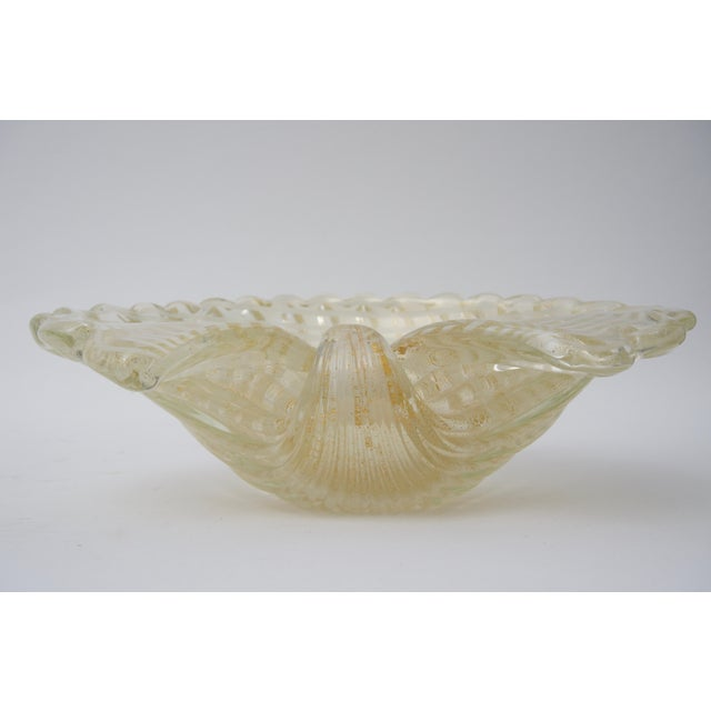 Large Scale Clam Shell Murano Glass Dish by Barovier E Toso For Sale In West Palm - Image 6 of 8