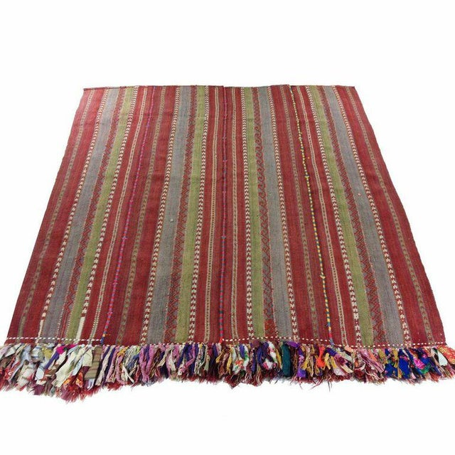 Vintage Turkish Kilim Flatweave - 5'8'' x 6'' - Image 1 of 5