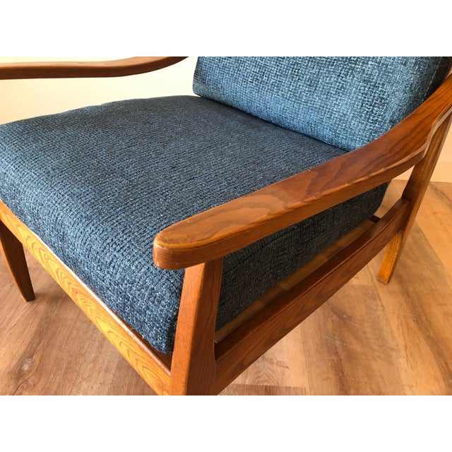Blue Mid-Century Modern Side Chair For Sale - Image 8 of 13