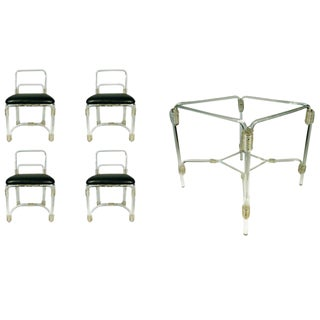 1940s Grosfeld Lucite Dining Set