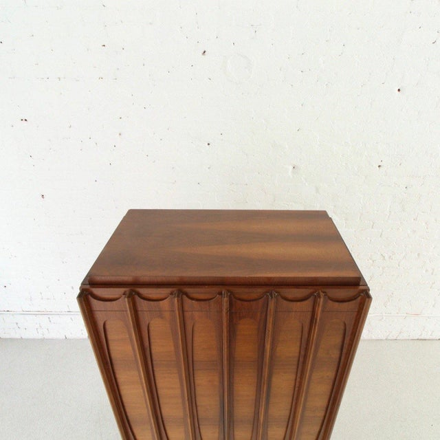 1970's Brutalist Highboy Armoire For Sale In Los Angeles - Image 6 of 9