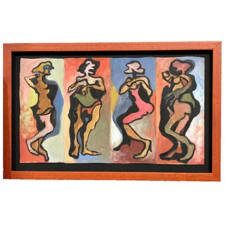 Grouping of Four Abstract Figures Oil Painting For Sale
