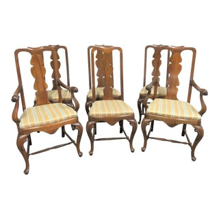 19th Century Italian Walnut Provincial Dining Chairs- Set of 6 For Sale