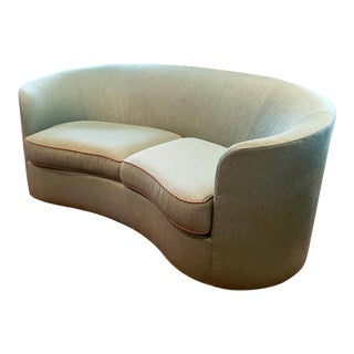 Pearson Furniture Curved Sofa For Sale