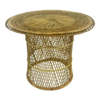 Woven Wicker Table