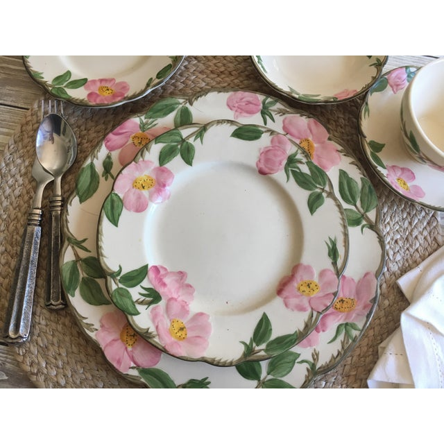 English Traditional Franciscan Desert Rose Dinnerware - Service for 6 For Sale - Image 3 of 8