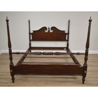 Ethan Allen Georgian Court Collection Cherry Queen Poster Bed Preview