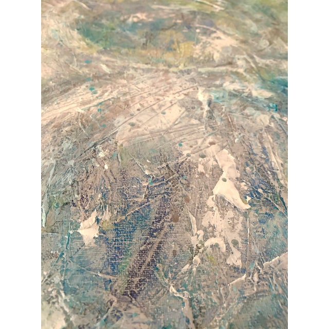 """Blue Original Mixed Media Painting, """"Cosmic Swirls"""" For Sale - Image 8 of 11"""