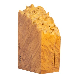 Michael Elkan Maple Leaf Studio Live Edge Burl Wood Box For Sale
