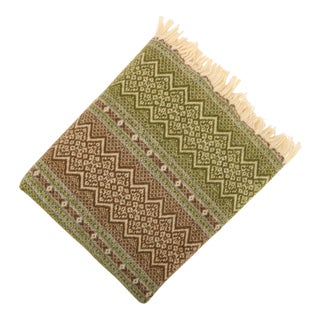 Amana Woolen Mills Fair Isle Wool Blanket For Sale