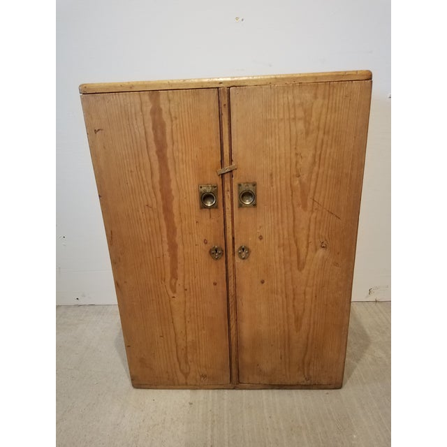 1880 Antique Pine Cabinet/Chest For Sale - Image 13 of 13