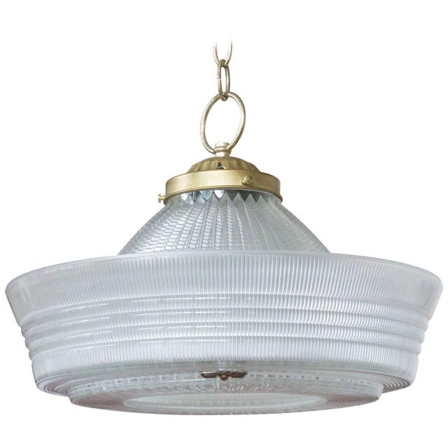 Vintage Hanging Glass Light, 20th Century - Image 11 of 11