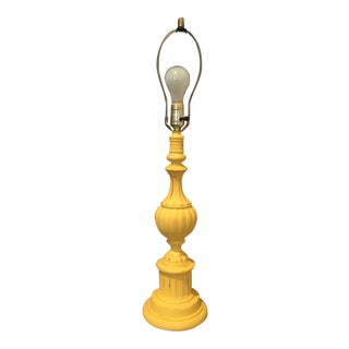 Vintage Yellow Table Lamp For Sale