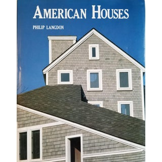 American Houses by Philip Langdon Coffee Table Book For Sale