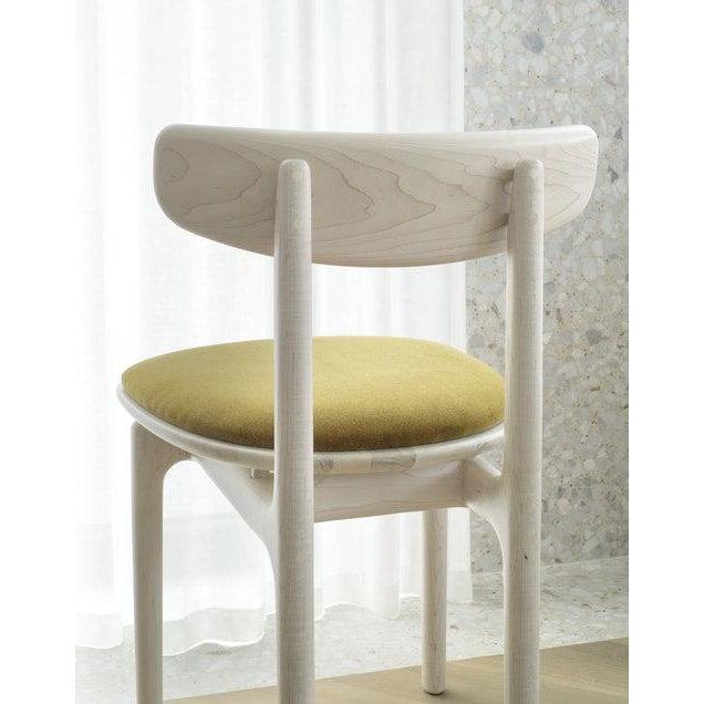 Modern Bunn Studio Pillar Dining Chair, Upholstered For Sale - Image 3 of 6