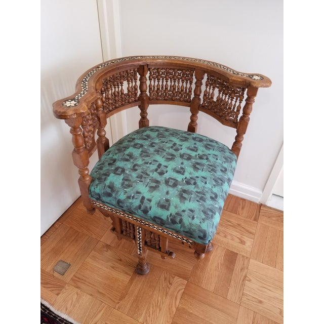 Moroccan Early 20th Century Moroccan Side Chair For Sale - Image 3 of 12