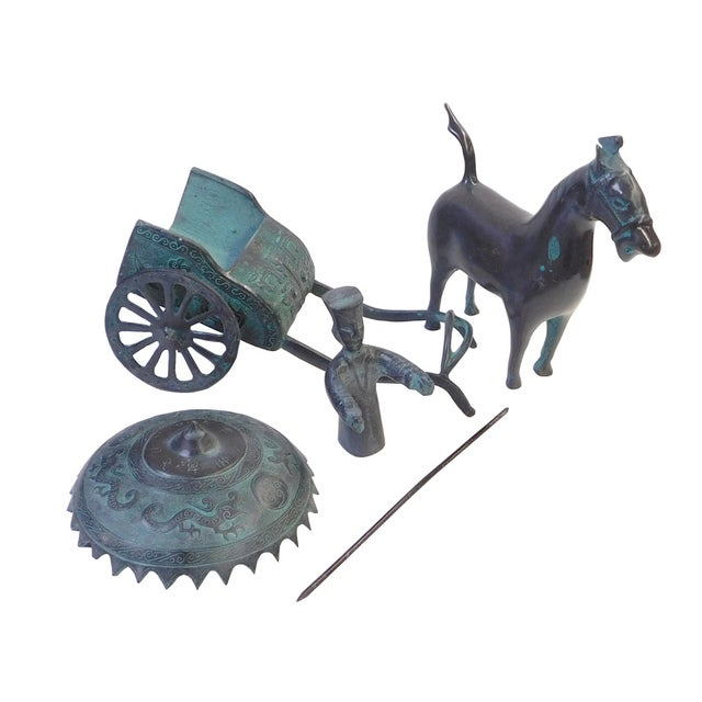 Ancient Mixed Metal Horse Cart - Image 3 of 5