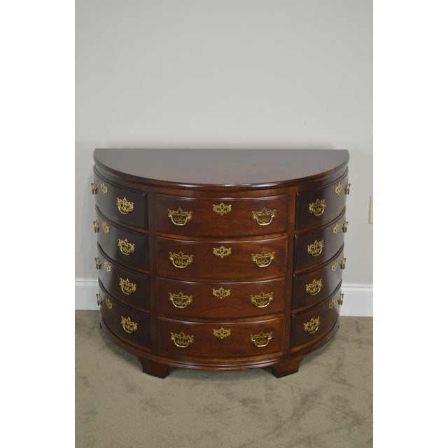 Gold Madison Square Demilune Chippendale Chest of Drawers For Sale - Image 8 of 13