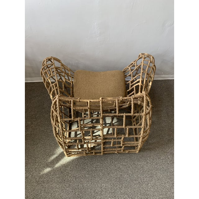 1970s Vintage Marine Rope Club Chairs and Ottomans - 4 Pieces For Sale - Image 9 of 12