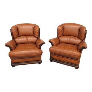 Late 20th Century Vintage Design Club Chairs- A Pair For Sale