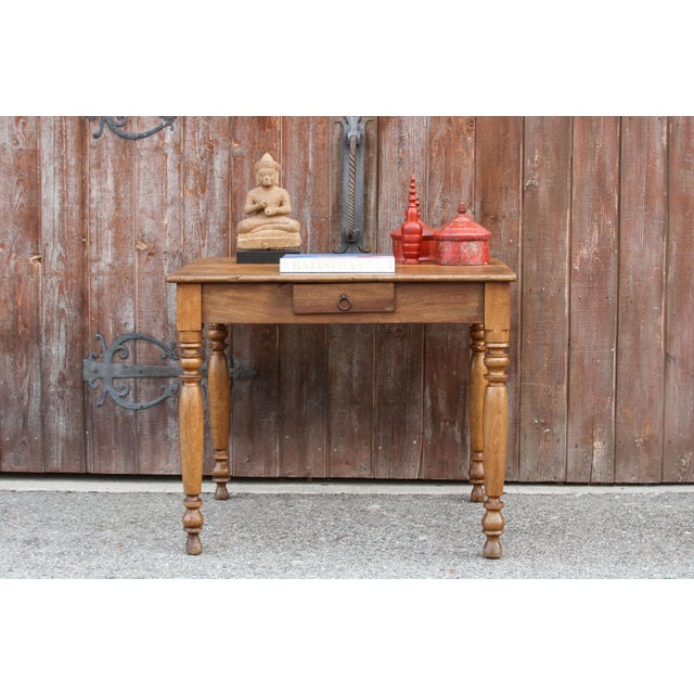 Rustic Farmhouse Kitchen Table For Sale - Image 10 of 10