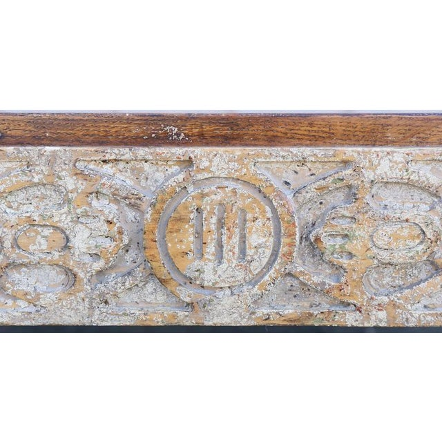 Parquetry Top Painted Square Coffee Table For Sale In Boston - Image 6 of 9