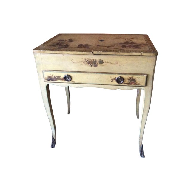 Shabby Chic Vintage Chinoiserie Vanity - Image 1 of 9