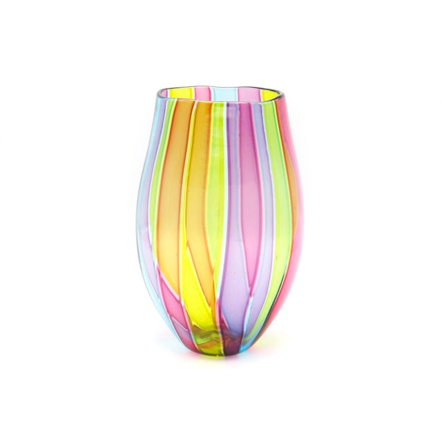 Italian Mid Century Multi Colored Vase For Sale In New York - Image 6 of 6