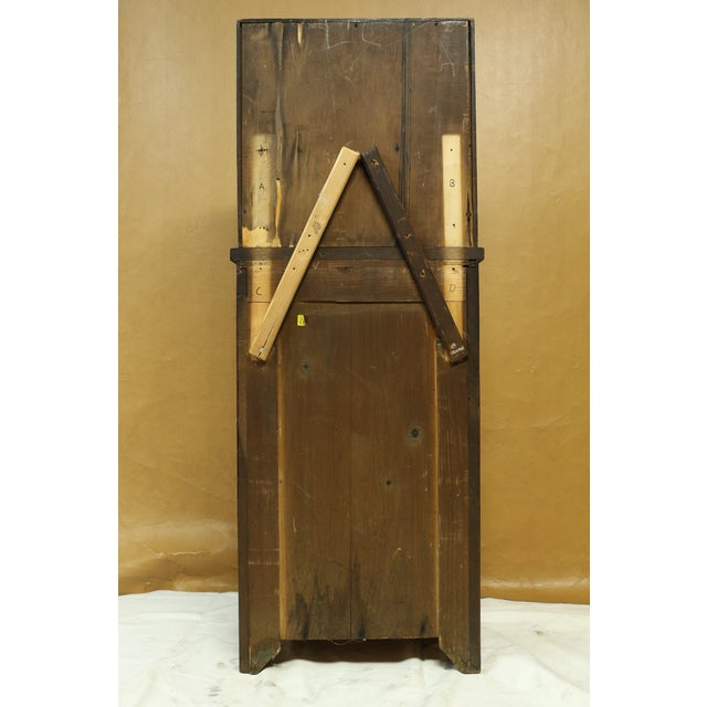 Antique American Two-Part Step Back Cupboard With Hutch For Sale In Los Angeles - Image 6 of 13