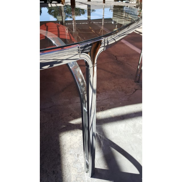 Vintage Polished Chrome Dining Table - Image 4 of 8