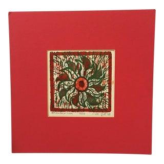 """1960s Vintage """"December Sun"""" Silkscreen Art by Jill Gill For Sale"""