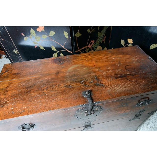 """Black Early 19th Century Japanese """"Tansu"""" Chest For Sale - Image 8 of 9"""