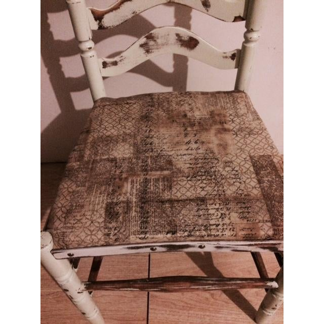 Shabby Chic Ladder Back Chair - Image 5 of 6