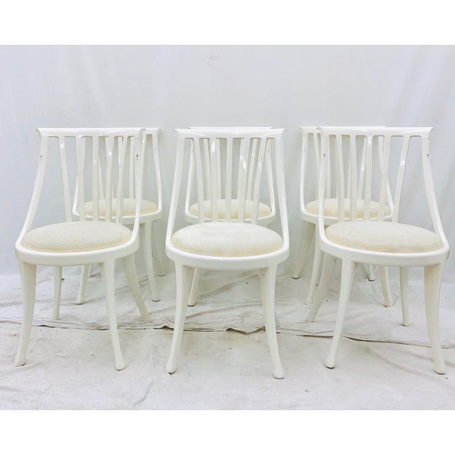 Mid 20th Century Set Vintage Poltrona Frau Dining Chairs For Sale - Image 5 of 13