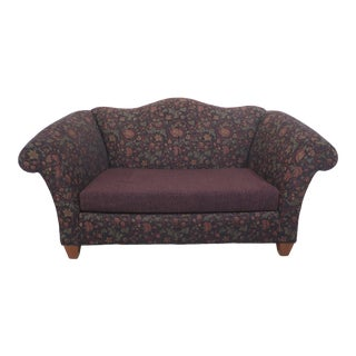 Vintage Stickley Upholstered Small Sofa For Sale