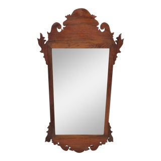 19th Century Walnut Chippendale Mirror For Sale
