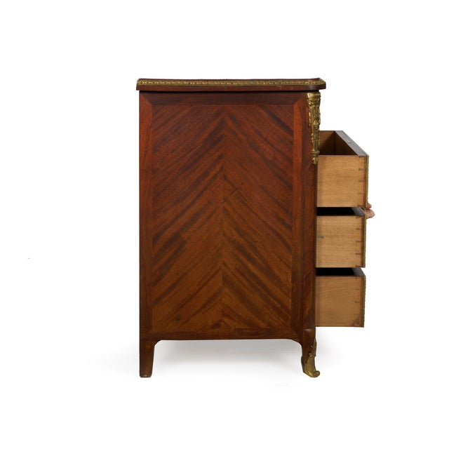 19th Century French Antique Dressing Table Commode Chest of Drawers For Sale - Image 4 of 13