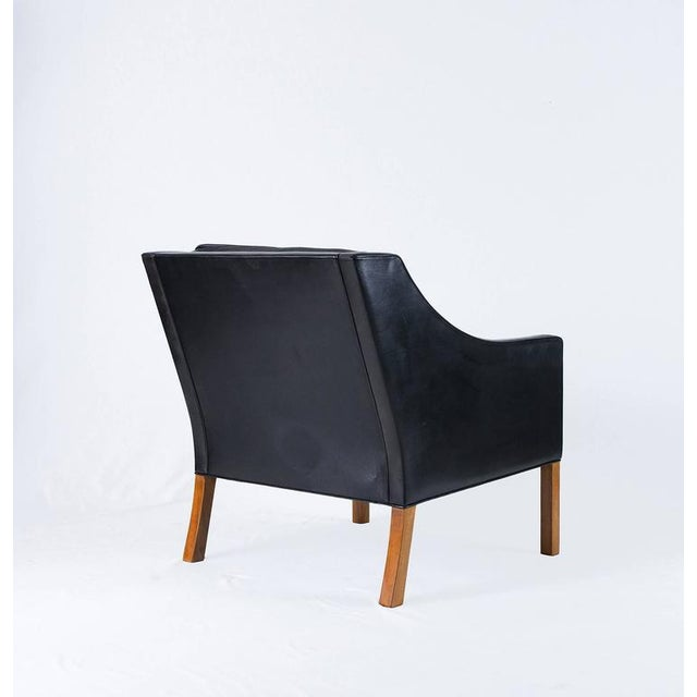 Borge Mogensen Model #2207 Leather Lounge Chair - Image 5 of 10